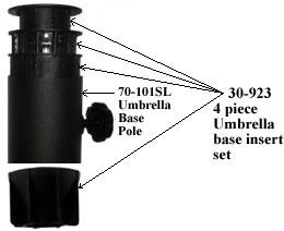 30923  4 Pc Upper   Lower Plastic Umbrella Insert Set