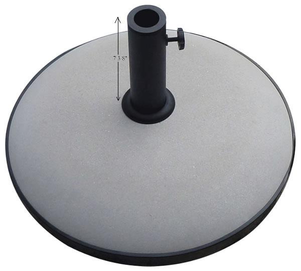 70 201s 67 Pound Umbrella Base W Short Powder Coated Steel Pole