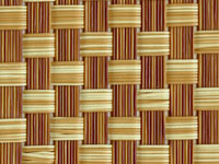 T91B5W077 Bamboo Check TEXTILENE® Wicker Fabric