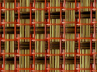 Coral Topaz Phifertex® Cane Wicker Fabric