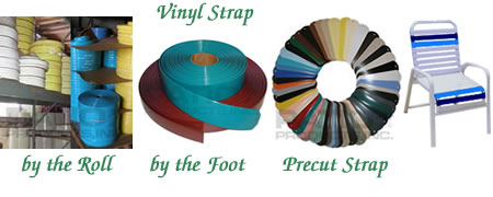 Vinyl Strap by the foot and by the roll